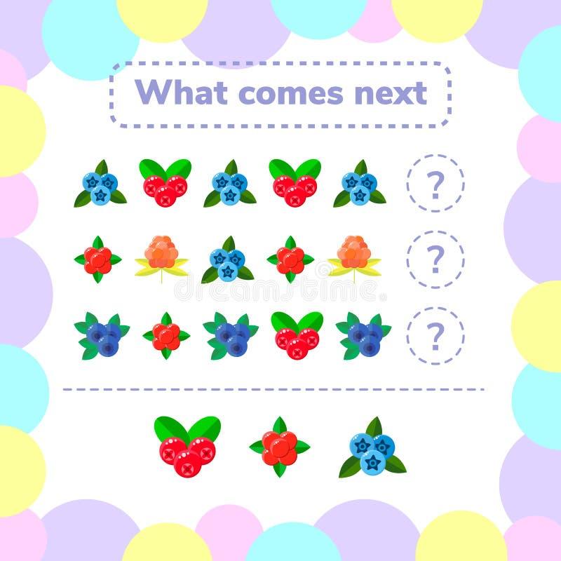 Ilustração do vetor Jogo da lógica da educação para crianças prées-escolar Wh ilustração stock