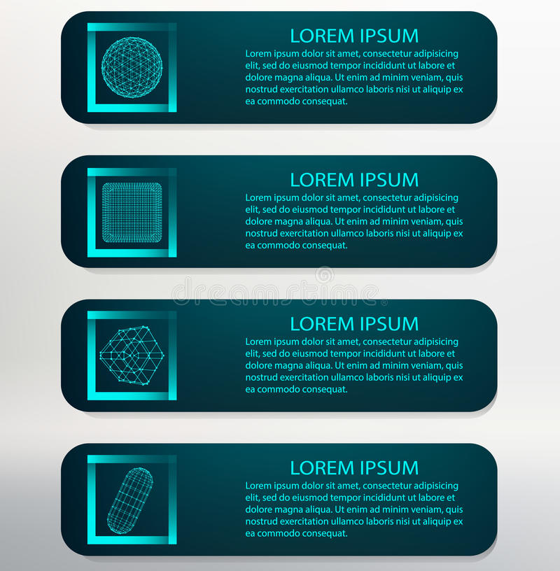 Ilustração do vetor Lista do molde de Infographic ilustração royalty free