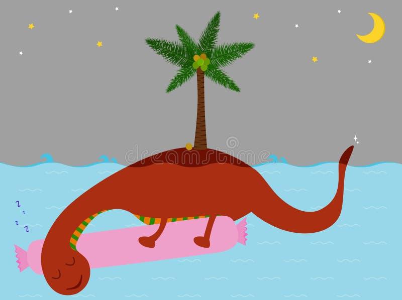 Ilustração do vetor do Loch de sorriso bonito Ness Monster ilustração stock