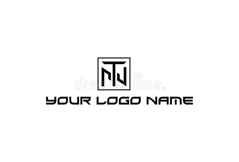 Ilustração do vetor do logotipo do alfabeto T ilustração stock