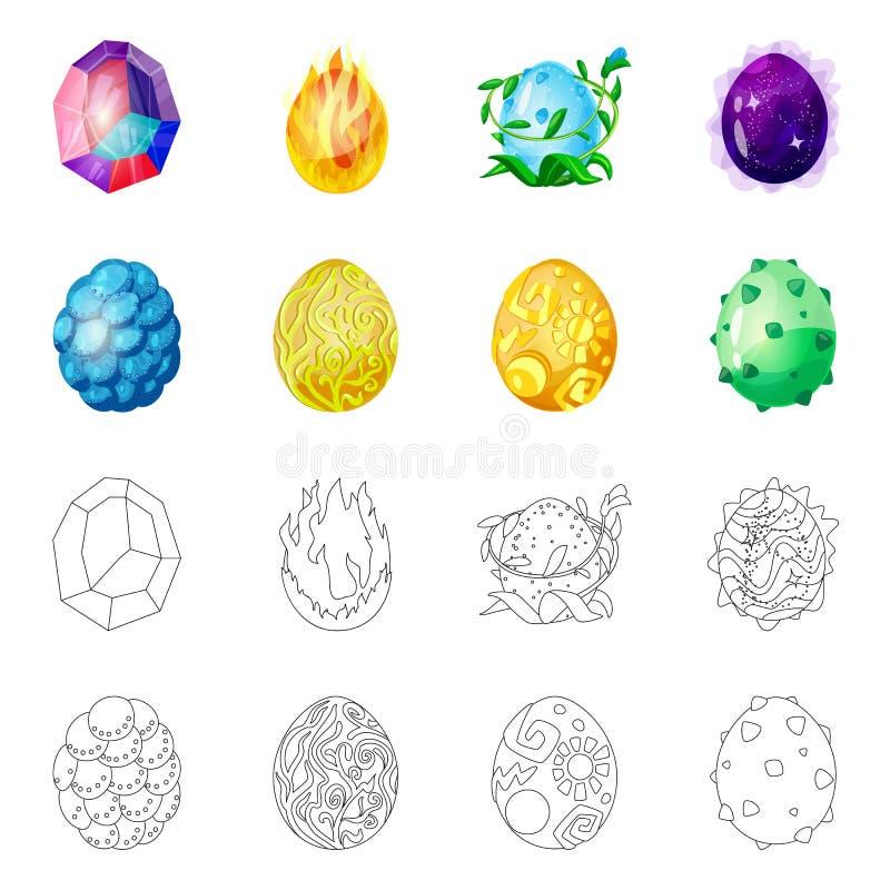 Ilustração do vetor do logotipo animal e pré-histórico Ajuste do ícone animal e bonito do vetor para o estoque ilustração stock