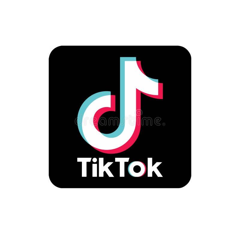 Ilustra??o do vetor do logotipo do app de TikTok ilustração stock