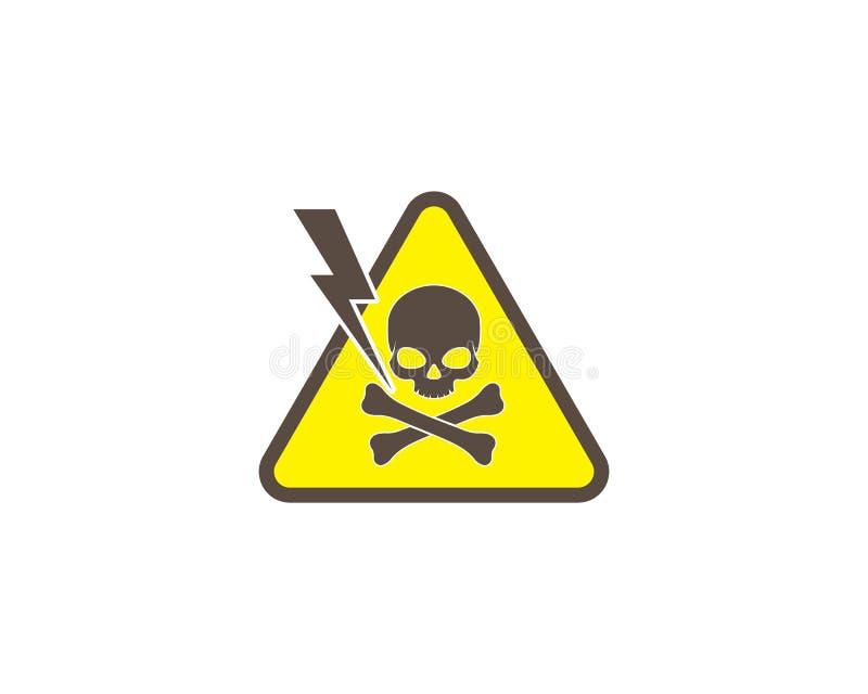 ilustração do vetor do logotipo do crânio da condição do perigo ilustração do vetor
