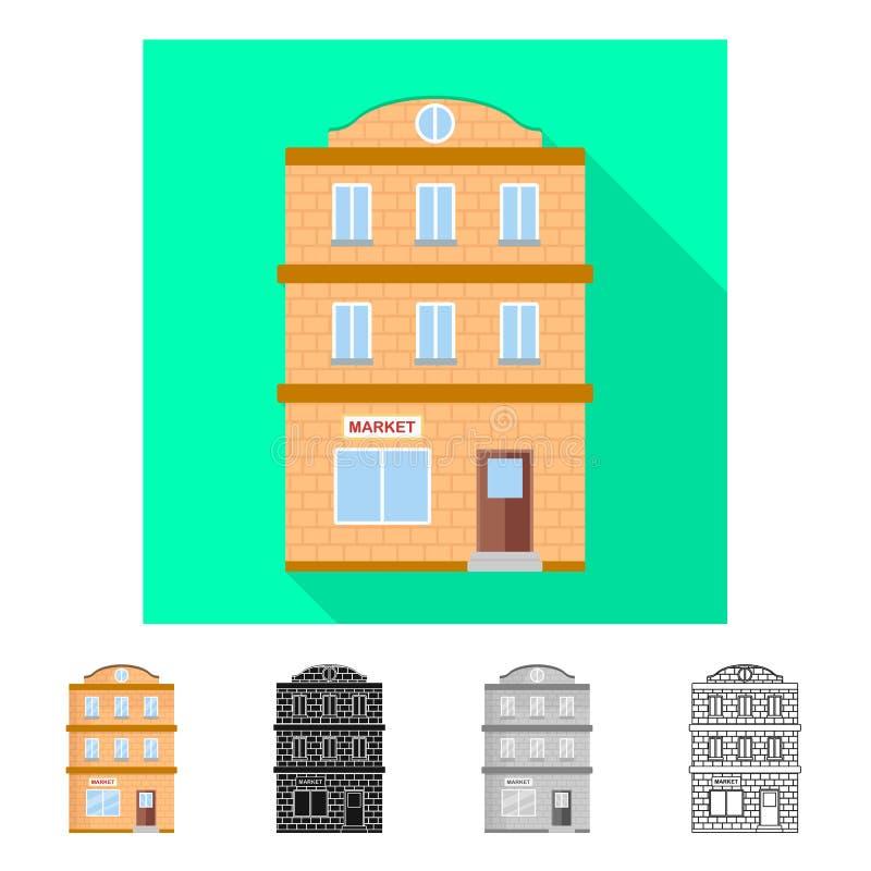Ilustração do vetor do logotipo da casa e da placa Cole??o do s?mbolo de a??es da casa e do condom?nio para a Web ilustração stock