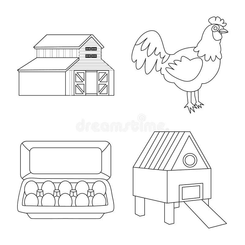 Ilustração do vetor do logotipo da natureza e da agricultura Ajuste da natureza e do ícone animal do vetor para o estoque ilustração do vetor