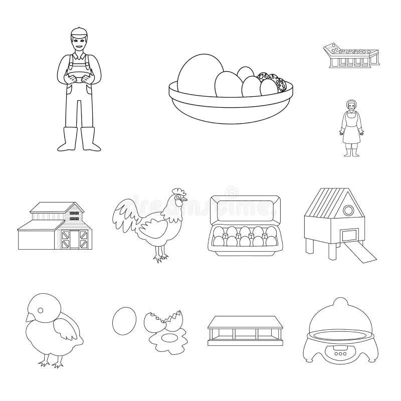 Ilustração do vetor do logotipo da natureza e da agricultura Coleção da natureza e da ilustração conservada em estoque animal do  ilustração do vetor