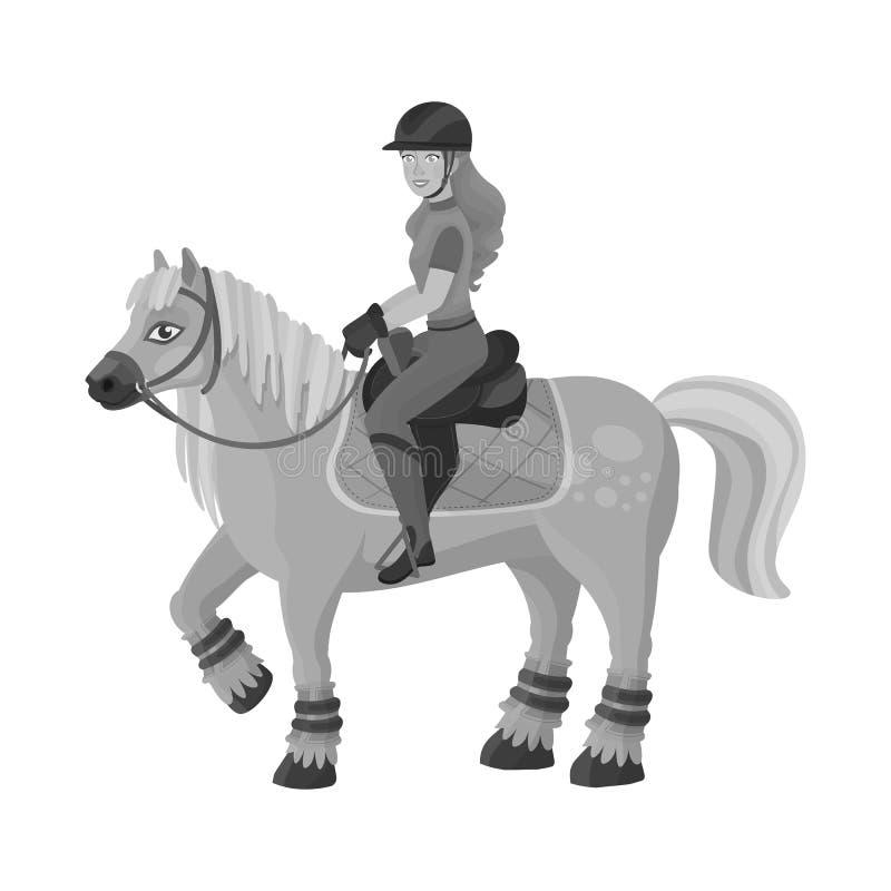 Ilustração do vetor do logotipo da raça e do cavalo Ajuste da raça e de competir a ilustração conservada em estoque do vetor ilustração royalty free