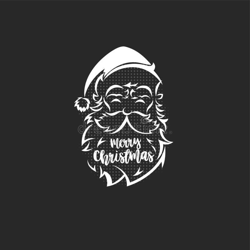 Ilustração do vetor do logotipo de Papai Noel ilustração do vetor