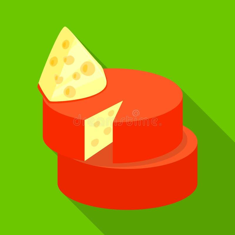 Ilustração do vetor do logotipo do queijo e do queijo Cheddar Ajuste da ilustração conservada em estoque do vetor do queijo e ilustração do vetor