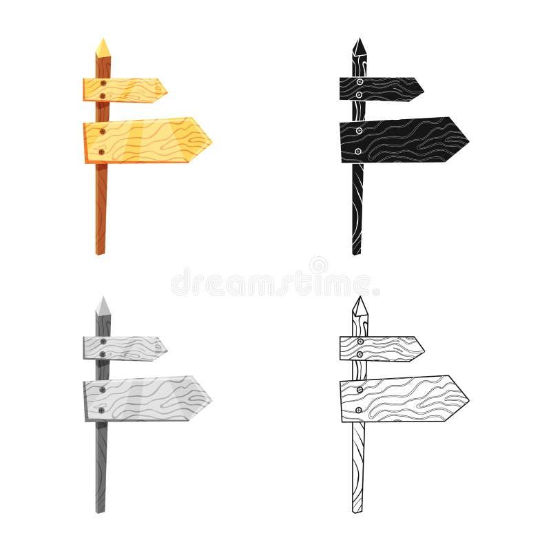 Ilustração do vetor do logotipo do signage e da seta Ajuste do ícone do vetor do signage e das rosas para o estoque ilustração stock