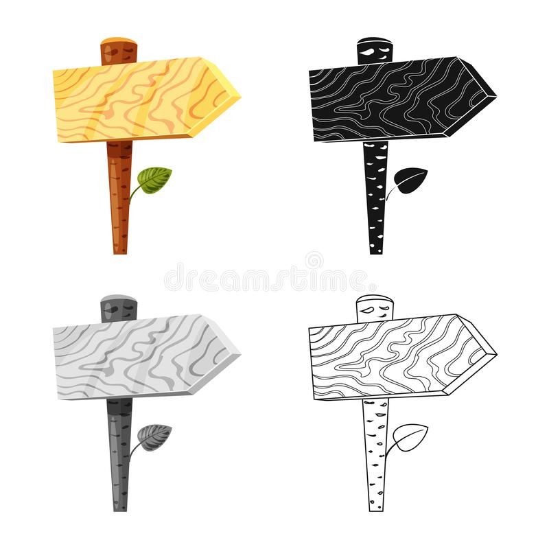 Ilustração do vetor do logotipo do signage e do sinal Ajuste do signage e da ilustração do vetor do estoque da seta ilustração stock