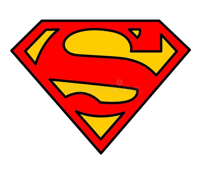 Ilustração do vetor do logotipo do superman ilustração royalty free