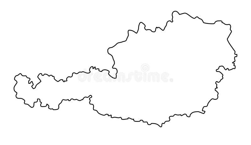 Ilustração do vetor do mapa do esboço de Áustria ilustração do vetor