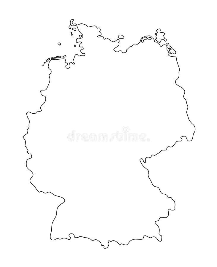 Ilustração do vetor do mapa do esboço de Alemanha ilustração royalty free