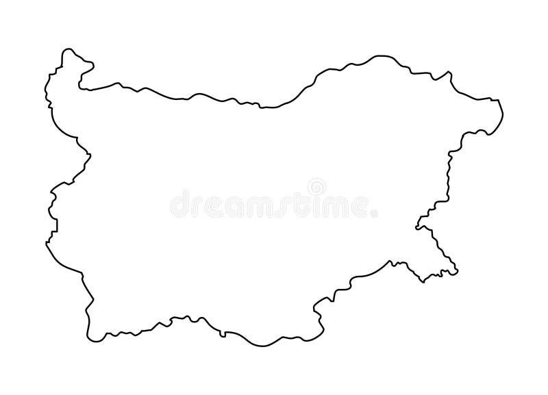 Ilustração do vetor do mapa do esboço de Bulgária ilustração royalty free