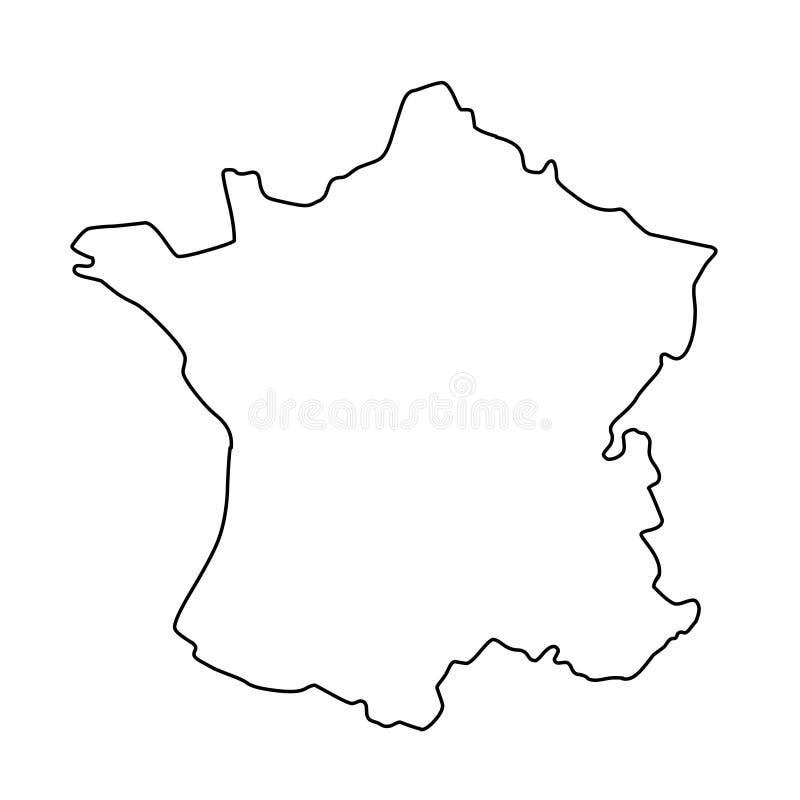 Ilustração do vetor do mapa do esboço de França ilustração do vetor