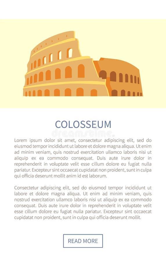 Ilustração do vetor do marco do página da web de Colosseum ilustração do vetor