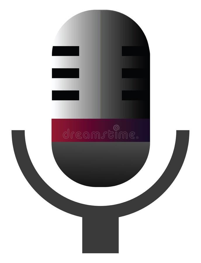 Ilustração do vetor do microfone retrô em um ilustração do vetor