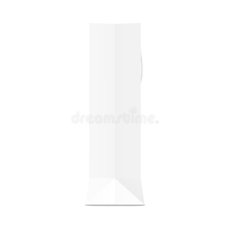A ilustração do vetor do modelo 3d da opinião de lado do saco do presente do Livro Branco da placa isolou-se ilustração royalty free