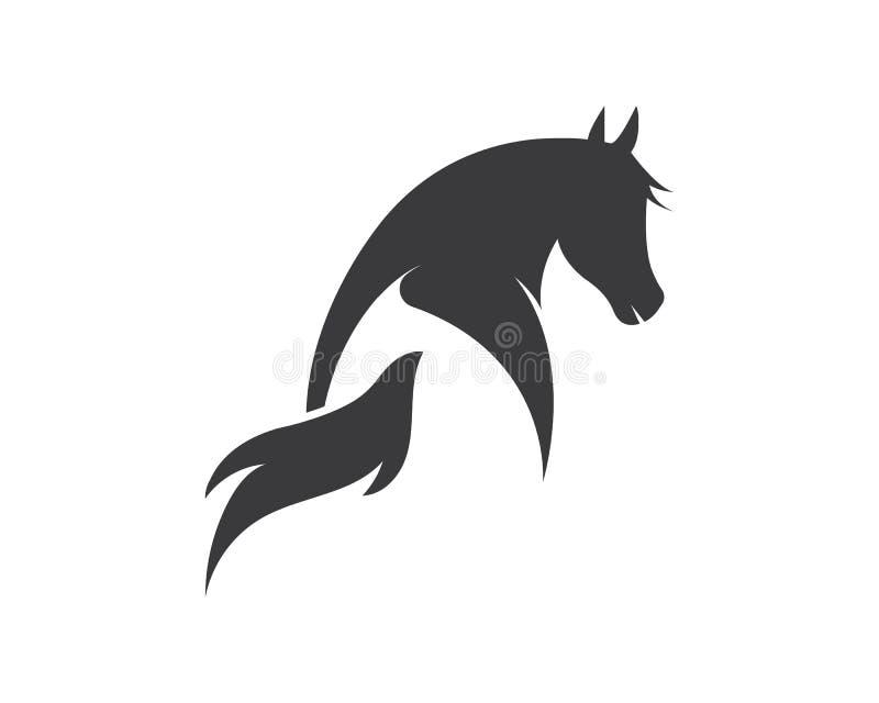 Ilustração do vetor do molde do logotipo do cavalo ilustração royalty free