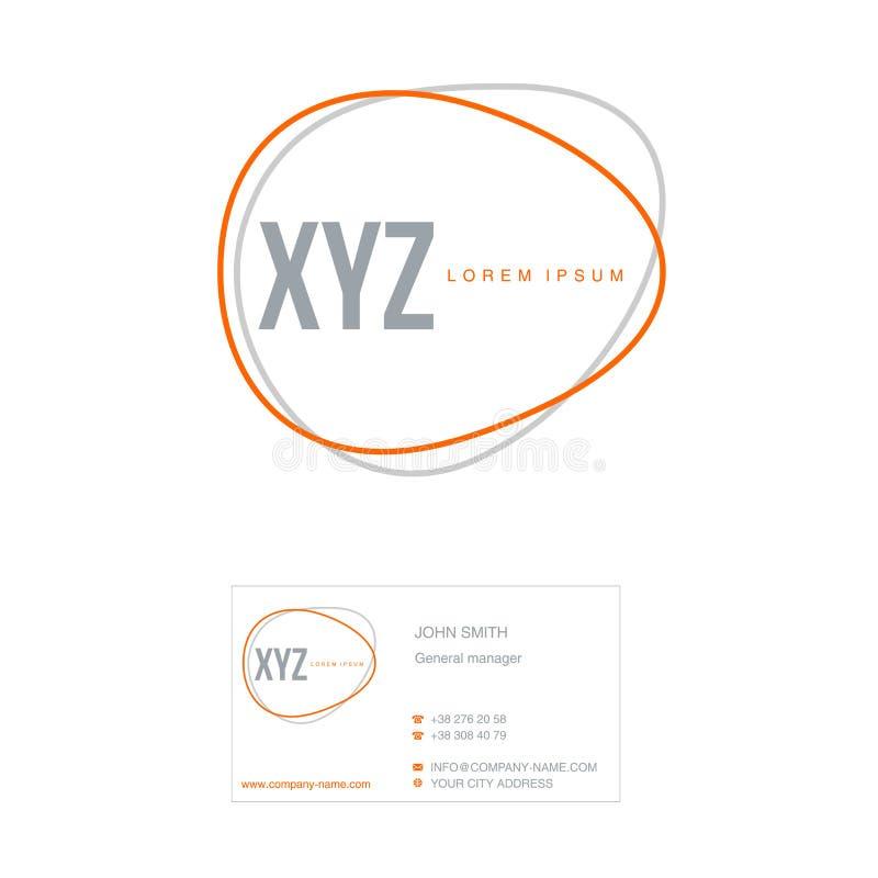 Ilustração do vetor do molde do negócio O tipo da empresa e do cartão ilustração royalty free
