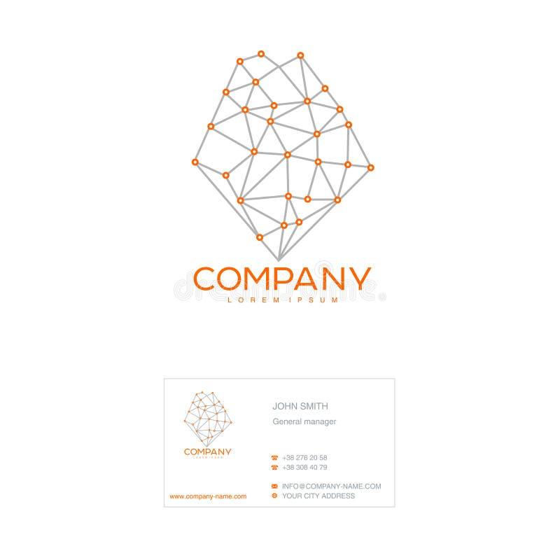 Ilustração do vetor do molde do negócio O tipo da empresa e do cartão ilustração stock