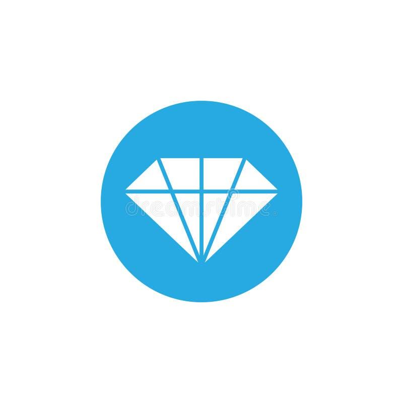 A ilustração do vetor do molde do projeto do ícone do diamante isolou-se ilustração stock