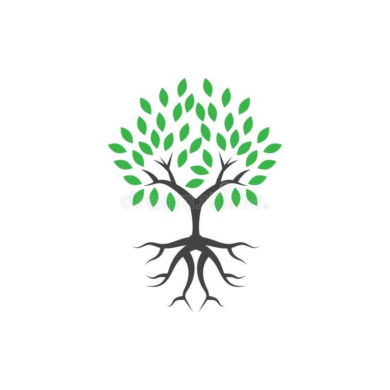 Ilustração do vetor do molde do projeto do ícone do logotipo do bem-estar da árvore ilustração royalty free