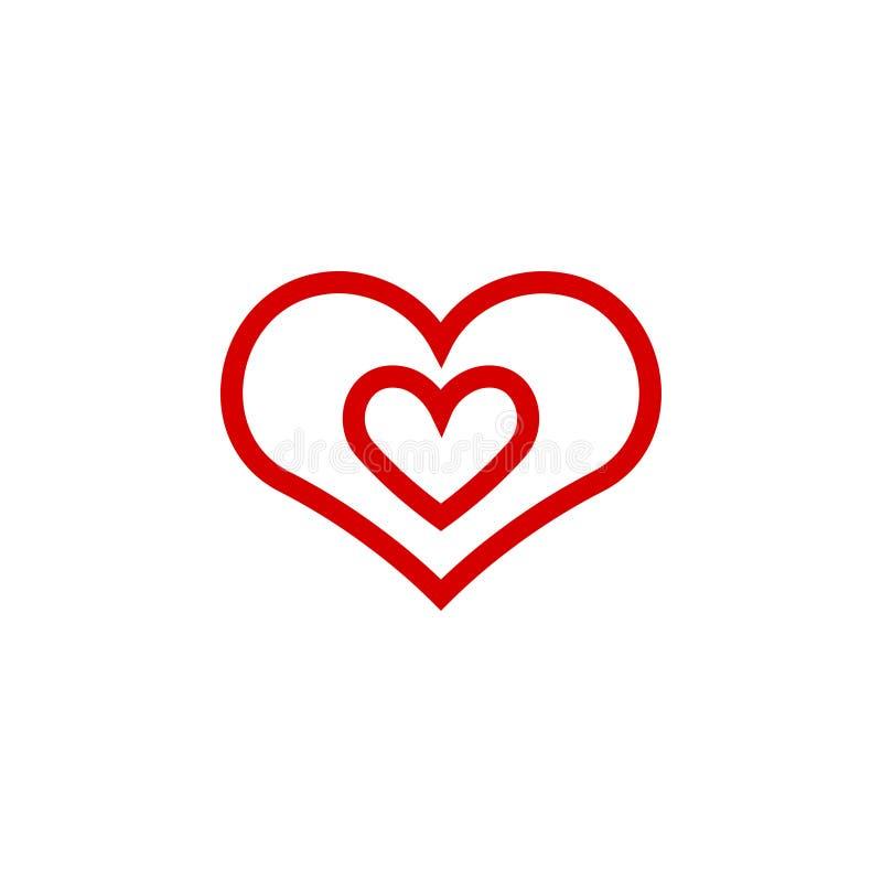 Ilustração do vetor do molde do projeto gráfico do ícone do coração ilustração stock