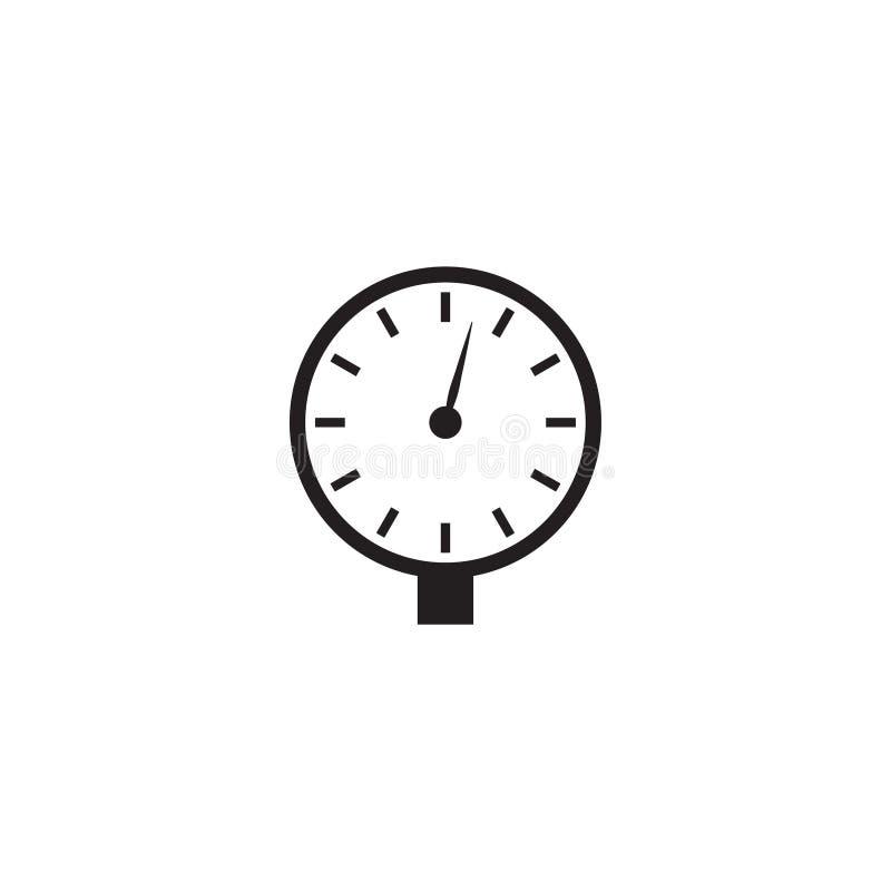 Ilustração do vetor do molde do projeto gráfico do ícone da tubulação do manômetro ilustração stock