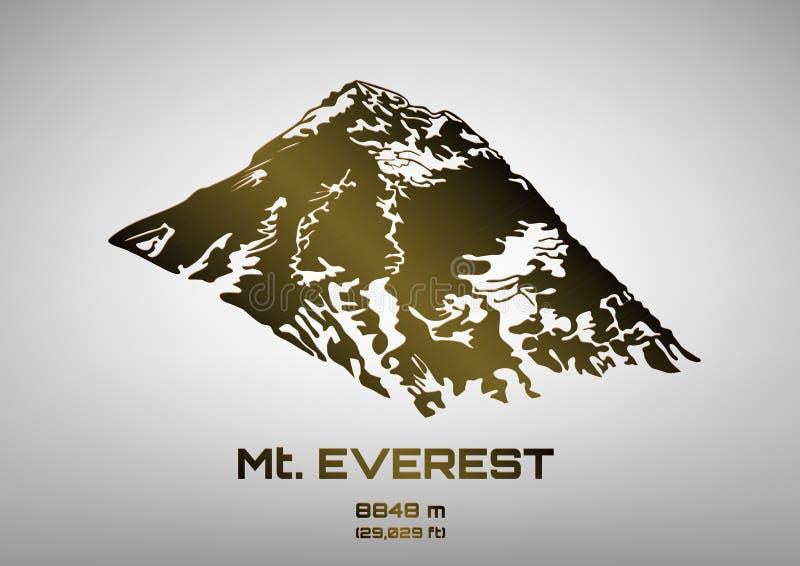 Ilustração do vetor do Mt de bronze everest ilustração royalty free
