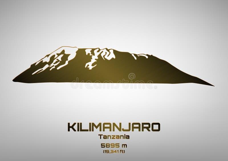 Ilustração do vetor do Mt de bronze kilimanjaro ilustração royalty free