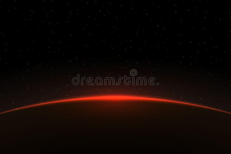 Ilustração do vetor do nascer do sol do planeta ilustração do vetor
