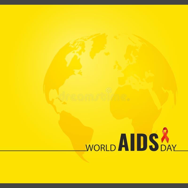 Ilustração do vetor no Dia Mundial do Sida do tema ilustração stock