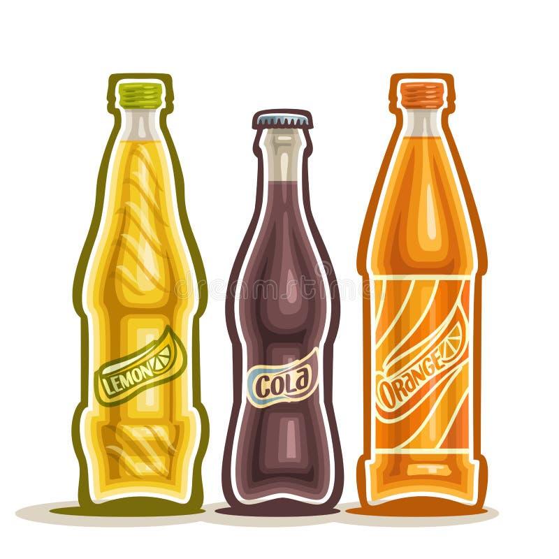 Ilustração do vetor no tema do logotipo para bebidas carbonatadas ilustração do vetor