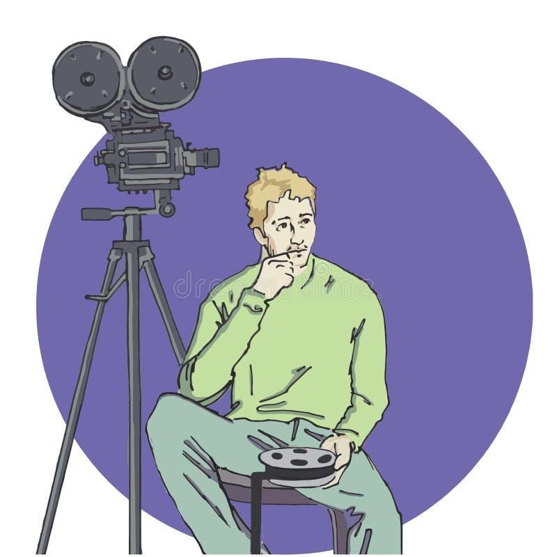 Ilustração do vetor do operador cinematográfico imagem de stock royalty free