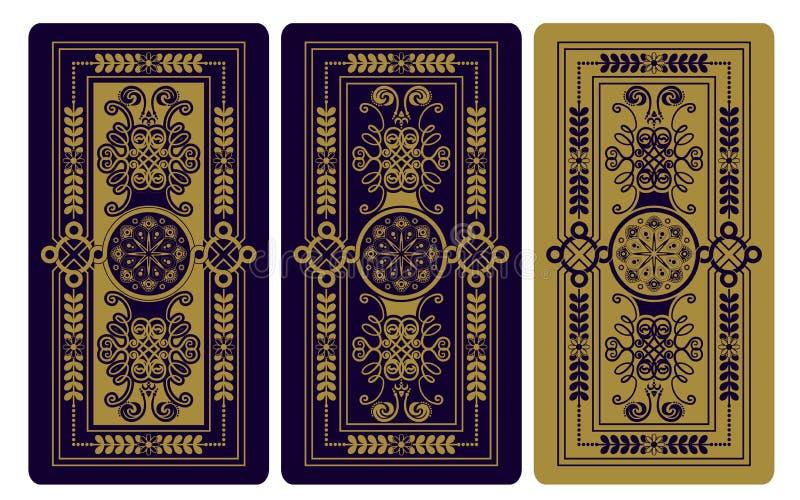Ilustração do vetor para cartões de tarô ilustração do vetor