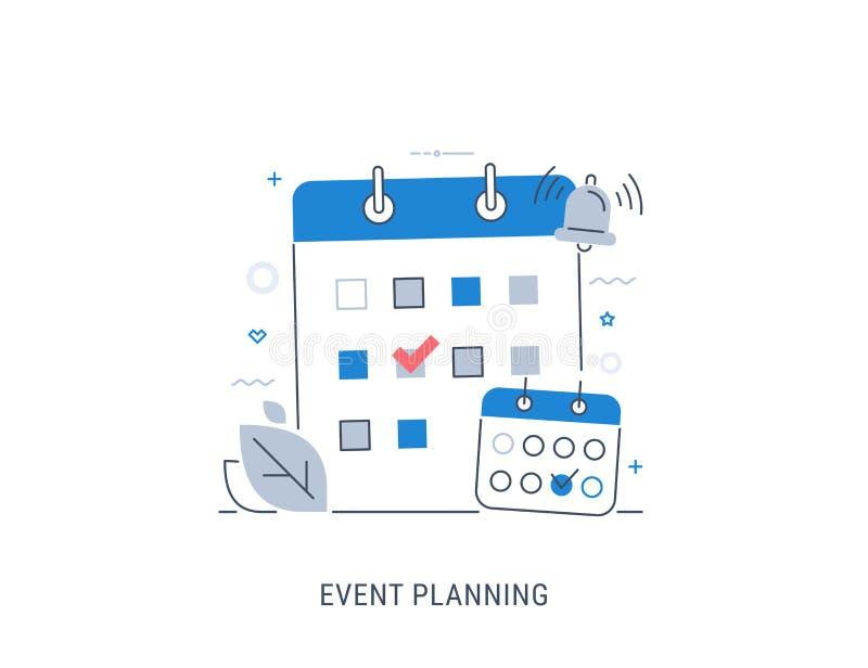Ilustração do vetor do planeamento do evento ilustração do vetor