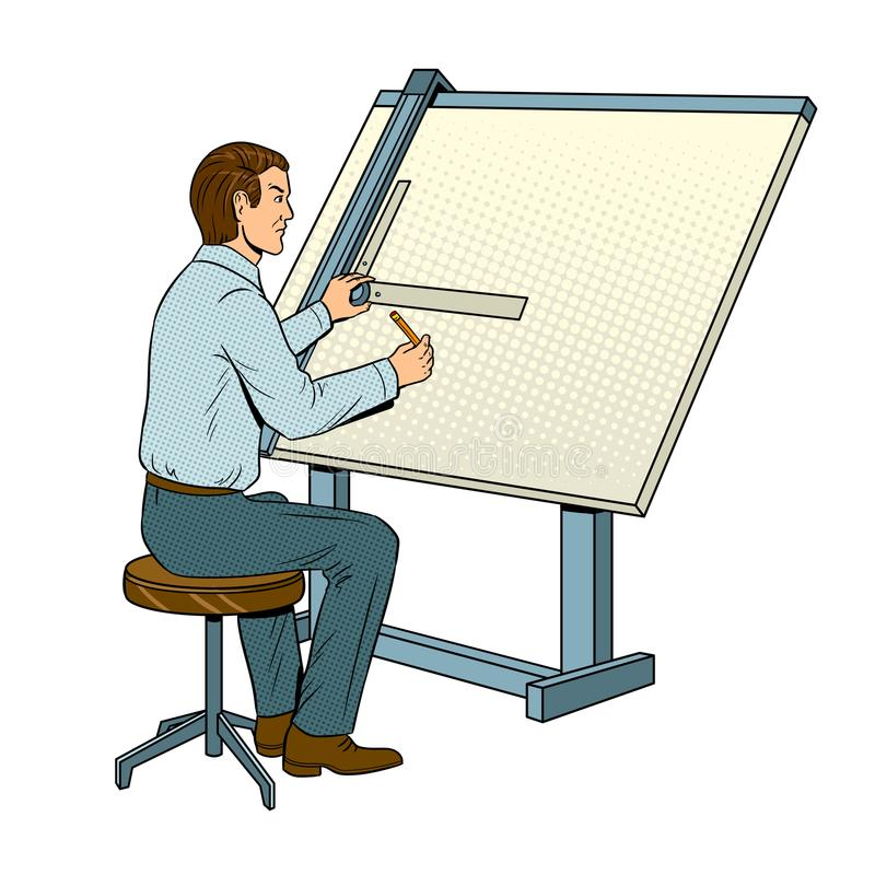 Ilustração do vetor do pop art do coordenador da velha escola ilustração do vetor