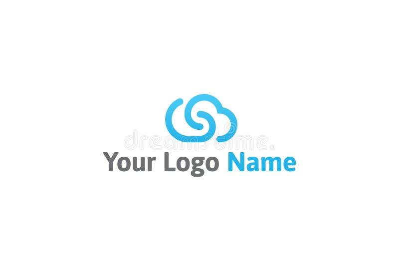 Ilustração do vetor do projeto azul do logotipo da cor ilustração do vetor