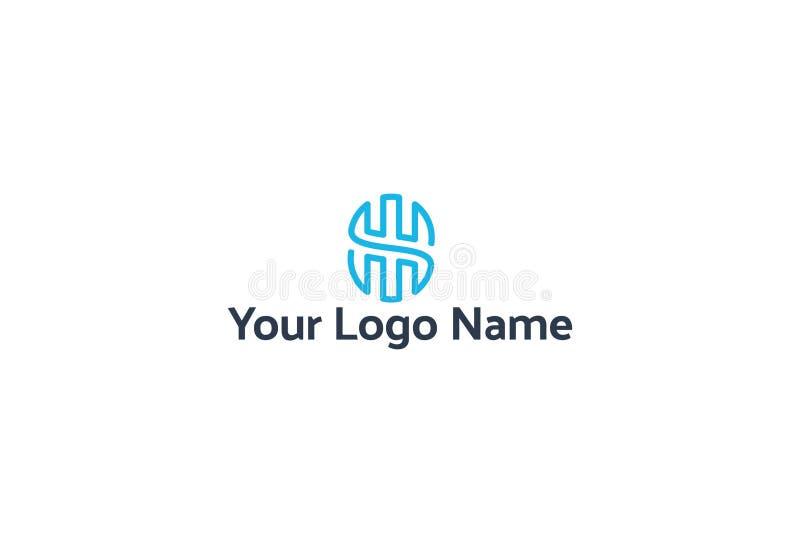Ilustração do vetor do projeto azul do logotipo ilustração do vetor