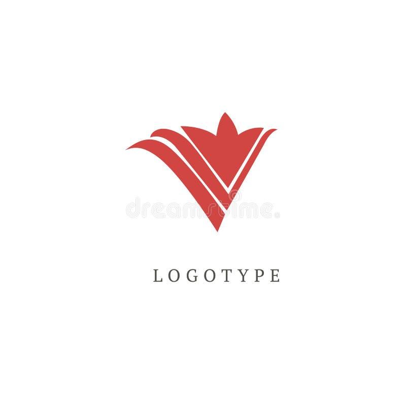 Ilustração do vetor, projeto editável do projeto gráfico Logotipo floral Ícone do casamento da flor Mola e verão luxuosos, emblem ilustração stock