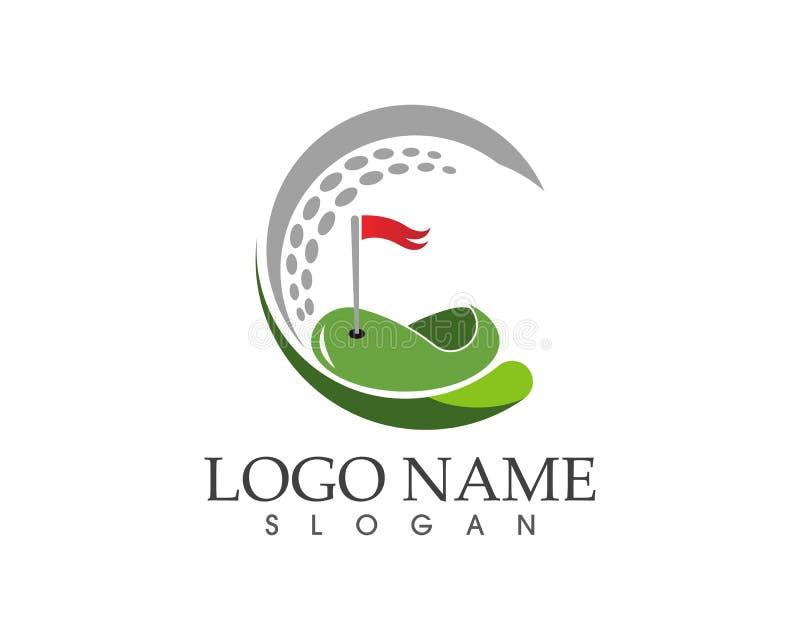 Ilustração do vetor do projeto do logotipo do ícone do golfe ilustração do vetor