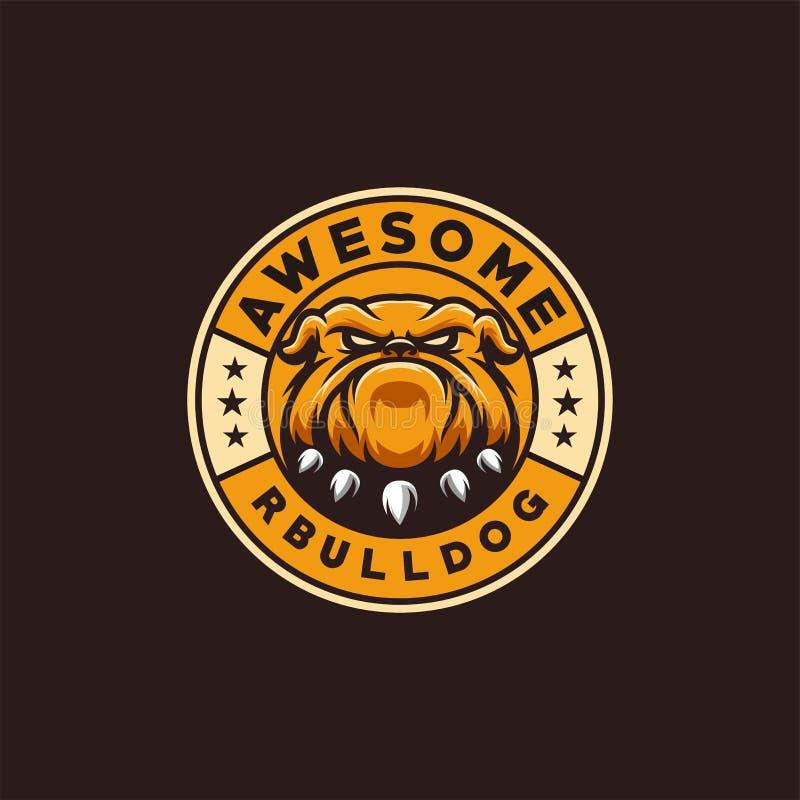 Ilustração do vetor do projeto do logotipo do buldogue pronto para uso ilustração stock
