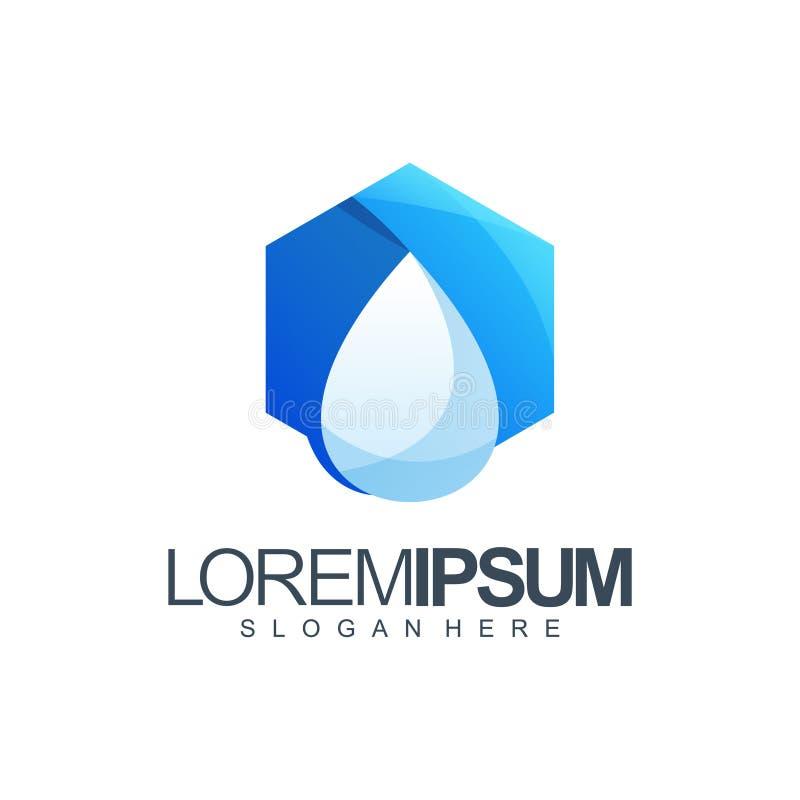 Ilustração do vetor do projeto do logotipo da água do polígono ilustração royalty free