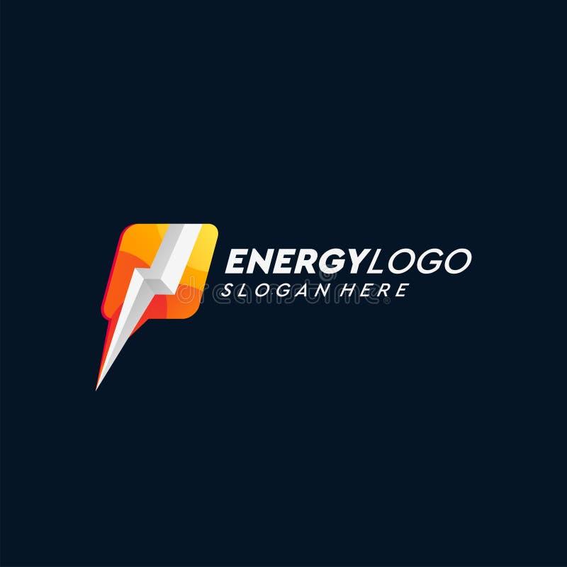 Ilustração do vetor do projeto do logotipo da energia ilustração stock