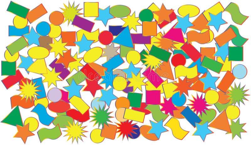 Ilustração do vetor que desintegra confetes coloridos imagem de stock royalty free