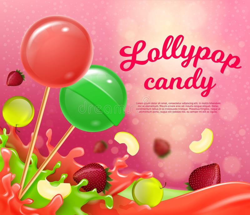 Ilustração do vetor que rotula doces de Lollypop ilustração royalty free