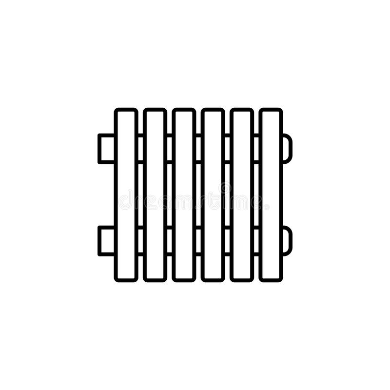 Ilustração do vetor do radiador Linha ícone de heate moderno da água ilustração royalty free