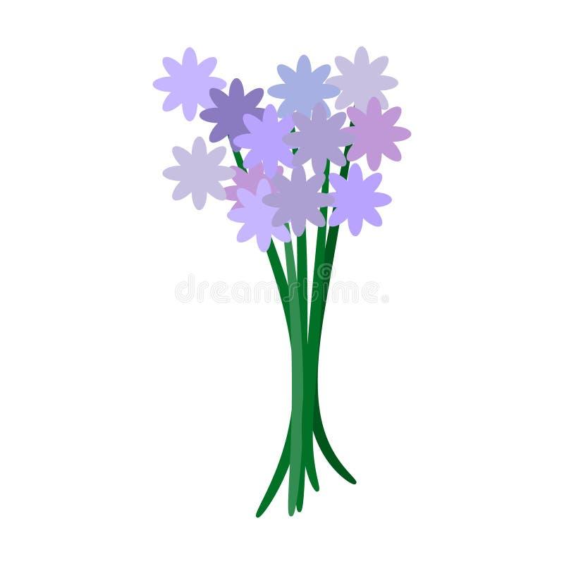 Ilustração do vetor, ramalhete das flores violetas da mola ilustração do vetor